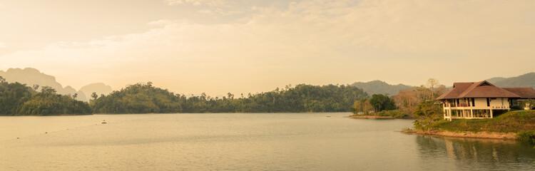 Ratchaprapha Dam in Surat Thani province,Thailand