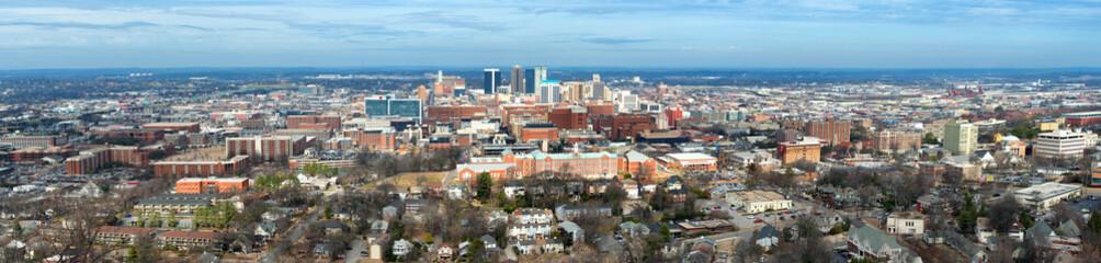 Panoramic of downtown Birmingham, Alabama, from Vulcan Park