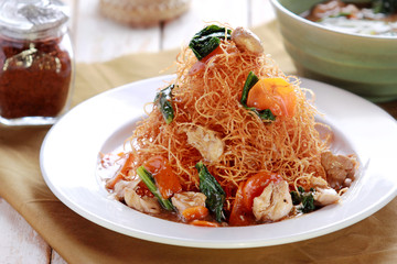 gluten free noodle served with capcay