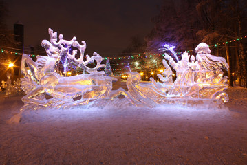 New Year's ice sculptures