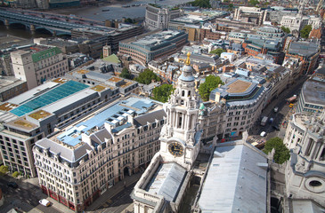 LONDON, UK - AUGUST 9, 2014. London's panorama
