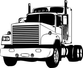 Vector illustration cargo truck