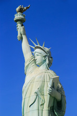 Close up of Replica of Statue of Liberty, New York - New York ho