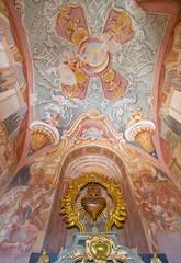 Banska Stiavnica - fresco in the lower church of baroque calvary