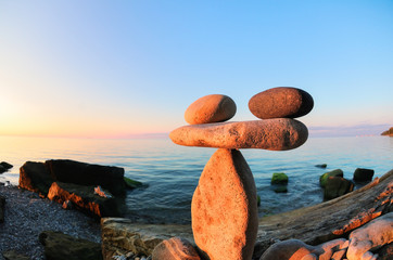 Zen at the seashore, fisheye