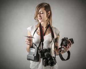 Busy photographer