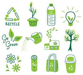 set of ecology icon