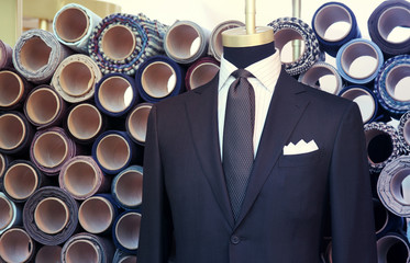 suite on the mannequin
