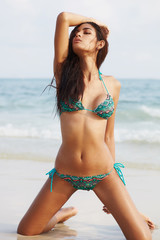 Bikini fashion on beach d