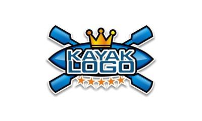 Kayaking badge and logo design vector