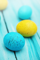 Spotted colored eggs
