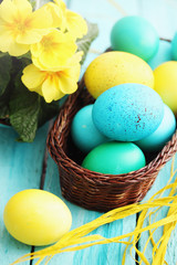 Still basket and eggs
