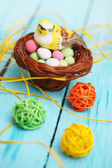 bird in the basket, Easter decoration