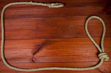 Hanging noose frame background