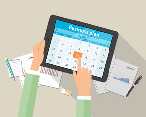 business plan and marketing plan on mobile device