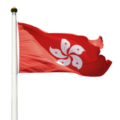 Hong Kong Flag (cliping paths)