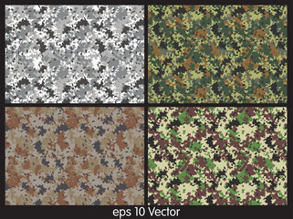 Set of camouflage pattern