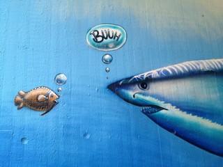 Straßen Kunst Graffiti