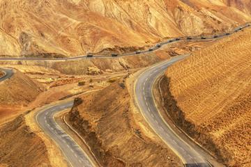 Zigzag road, Leh Srinagar Highway, Ladakh, Kashmir, India