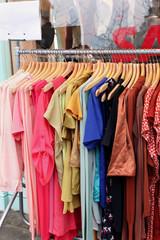 Clothes sale rack