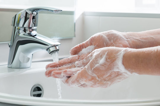 Hygiene. Cleaning Hands. Washing hands