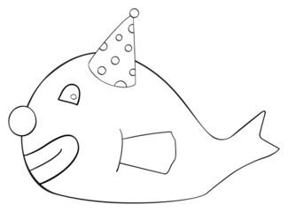Happy holiday - April fish Clown