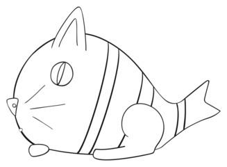 Happy holiday - April fish Cat