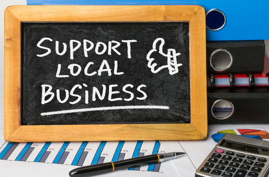 support local business on blackboard
