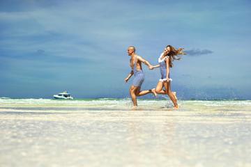Happy vacation on the sea