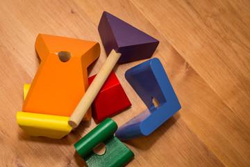 the child's toy, wooden herringbone
