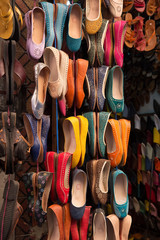 Moroccan colourful leather shoes