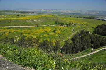 View of the valley from the mountains of the Bet She'an National Park, Israel