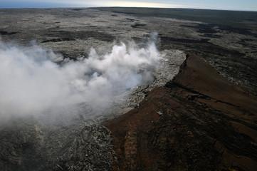 Aerial view of Kilauea volcano in Big island, Hawaii-5
