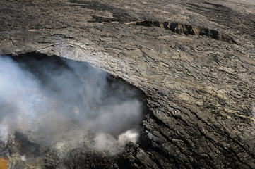 Poster Volcano Aerial view of Kilauea volcano in Big island, Hawaii-3