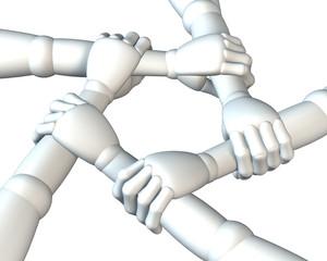 Gemeinschaft, Verbindung, Hände halten