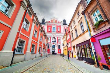 Baroque Collegiate Church in Poznan, Posen, Poland Fototapete
