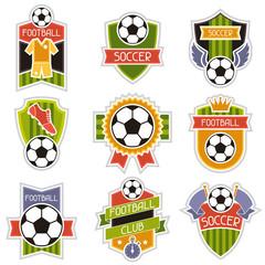 Set of sports illustrations soccer football badges.
