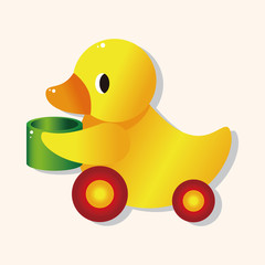 baby toy duck theme elements