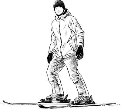 teen skiing