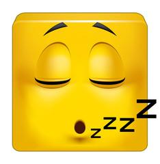 Square emoticon sleeping