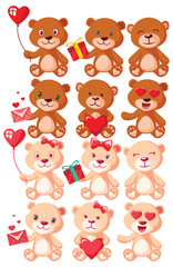 Teddy Bear Characters Set