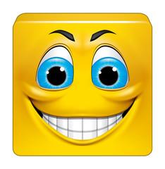 Square emoticon smiling