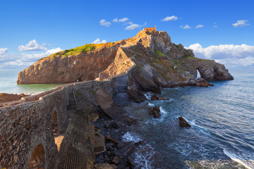 San Juan de Gaztelugatxe on a sunny day. Basque country, Spain