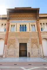 Wall Mural - Royal Alcazar of Seville. Main facade of Pedro I Palace