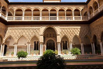 Wall Mural - Real Alcazar de Sevilla. Patio de las Doncellas, Spain