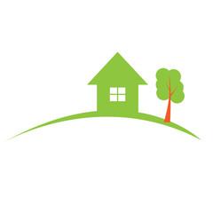 Real estate construction logo. Vector illustration.
