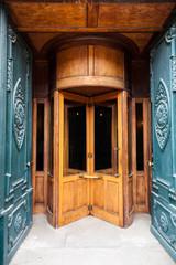 Vintage wooden revolving door