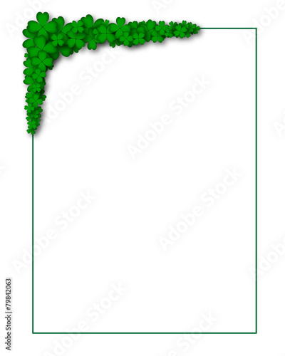 Cornice Angolo Di Quadrifogli Stock Image And Royalty Free Vector