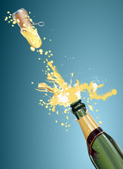 champagne bottle shooting