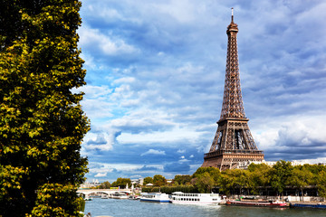 Eiffel Tower and Seine River, Paris, France